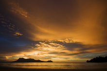 Canvastavla - Borneo Sunset