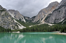 Wall mural - Lake Lago di Braies