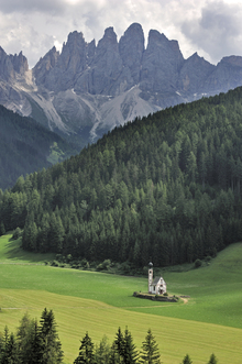 Canvas print - At the Foothills of the Dolomites