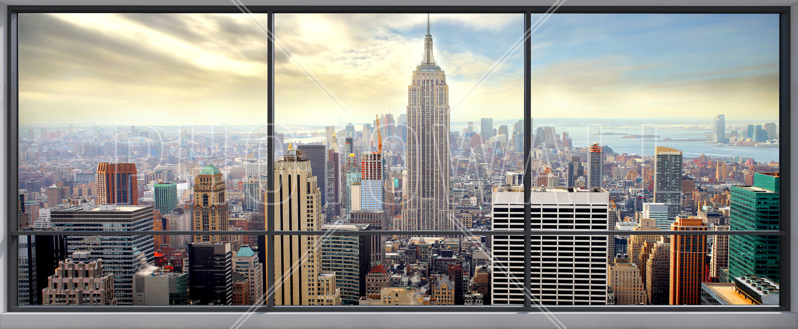 Penthouse window view wall mural photo wallpaper for Bay view wall mural