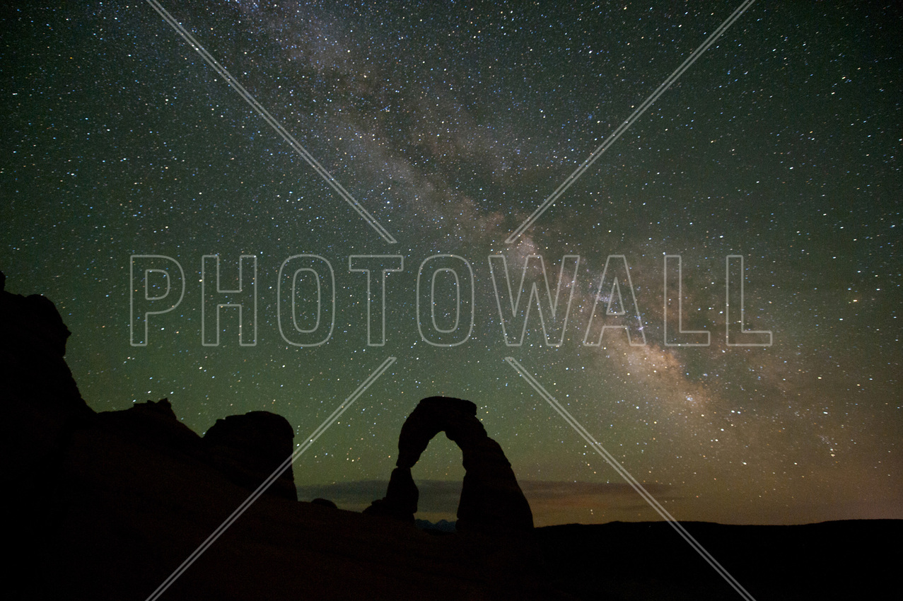 space wallpaper wall murals photowall co uk wall mural stone arch and the milky way