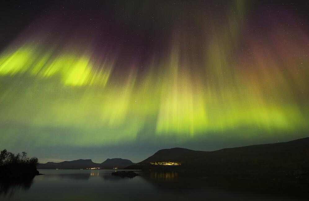 Northern Lights In Tornetr 228 Sk Sweden Canvas Print