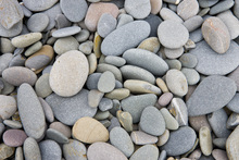 Canvas print - Pebbles on Sandymouth Beach