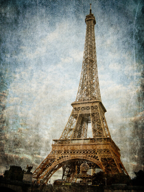 Vintage Eiffel Tower Wall Mural Photo Wallpaper