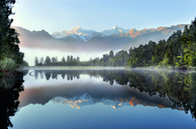 Wall mural - Reflection of Lake Matheson