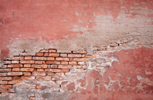Wall mural - Pink Colored Brick Wall