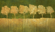 Wall Mural - Golden Tree Silhouettes