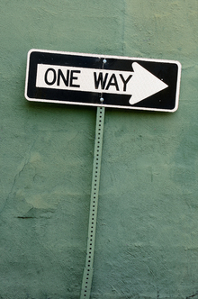 Fototapet - One Way