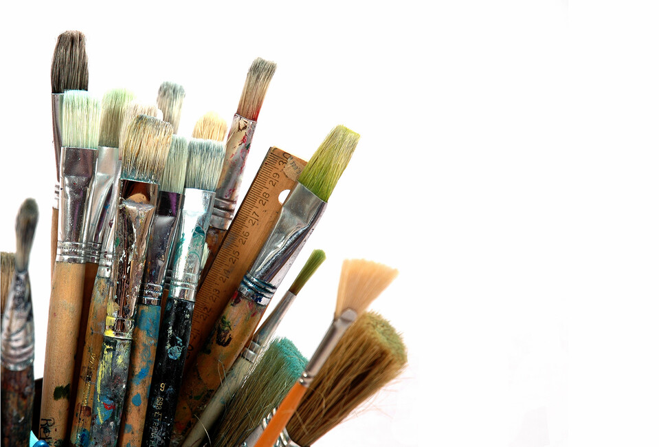 Paint Brushes - Wall Mural & Photo Wallpaper - Photowall