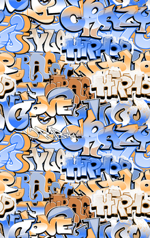 Canvas print - Hip Hop Graffiti