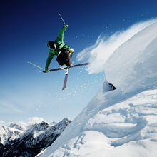 Canvas print - Jumping Skier