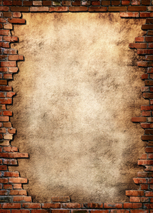 Canvastavla - Brick Wall Frame