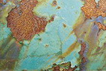Canvastavla - Turquoise and Rust