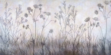 Wall mural - Wildflowers Lining the Trail -  Silver Lavender
