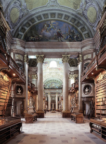 Canvastavla - Imperial Library in Wien