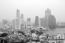 Canvastavla - Grey Shades of Bangkok