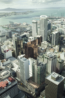Lerretsbilde - View of Auckland City