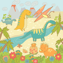 Wall mural - Dinosaurs World