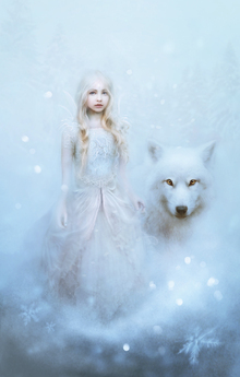 Fototapet - Snow Princess