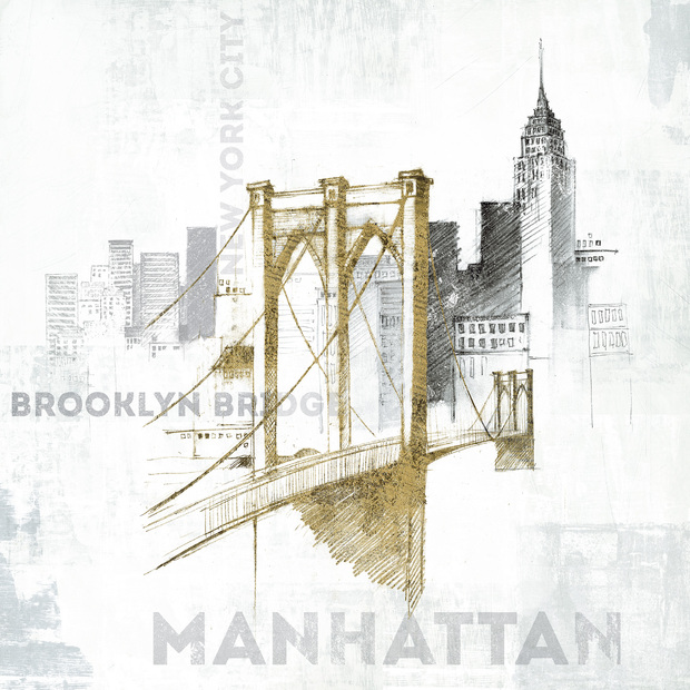 Brooklyn bridge wall mural photo wallpaper photowall for Brooklyn bridge wallpaper mural
