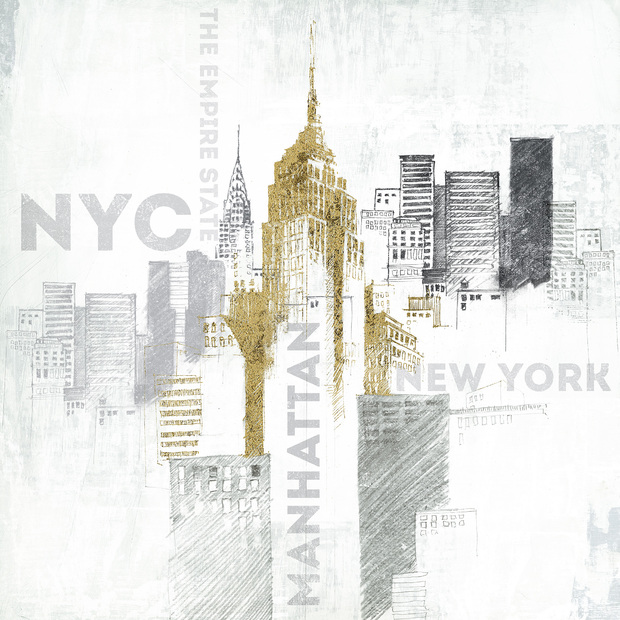 Empire state building wall mural photo wallpaper for Empire state building wall mural