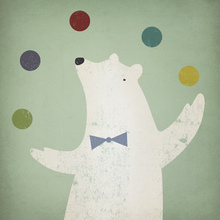 Canvas print - Circus Polar Bear