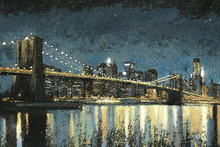 Wall Mural - Bright City Lights Blue