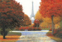 Canvas print - Autumn in Paris