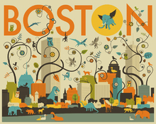 Wall Mural - Boston Animals