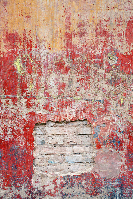 Reddish Old Cement Wall