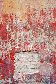 Fototapet - Reddish Old Cement Wall