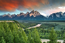 Canvas print - Snake River