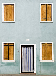 Fototapet - Facade with Closed Shutters