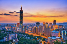 Fototapet - Taipei in Sunset