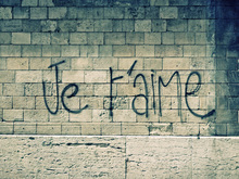 Wall mural - Je t'aime