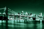 Wall mural - Brooklyn Bridge - Green