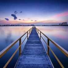 Wall Mural - Rosy Sunset Pier