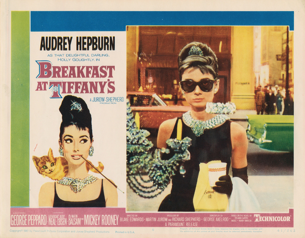 movie poster breakfast at tiffany 39 s bilder auf leinwand photowall. Black Bedroom Furniture Sets. Home Design Ideas