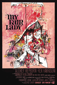 Leinwandbild - Movie Poster My Fair Lady