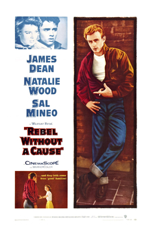 Leinwandbild - Movie Poster Rebel without a Cause