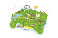 Wall mural - Marsh Mellow Island Map