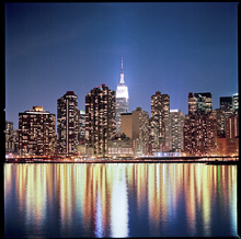 Fototapet - New York Night Reflections