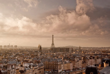 Canvas print - Soft Clouds Sweeping by Paris