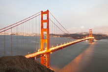 Wall mural - Evening Light Over the Bay in San Francisco