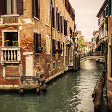 Canvas print - Bricks and Bridges in Venice