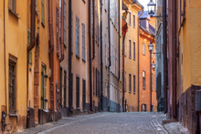 Canvas print - Street in Stockholm Old Town