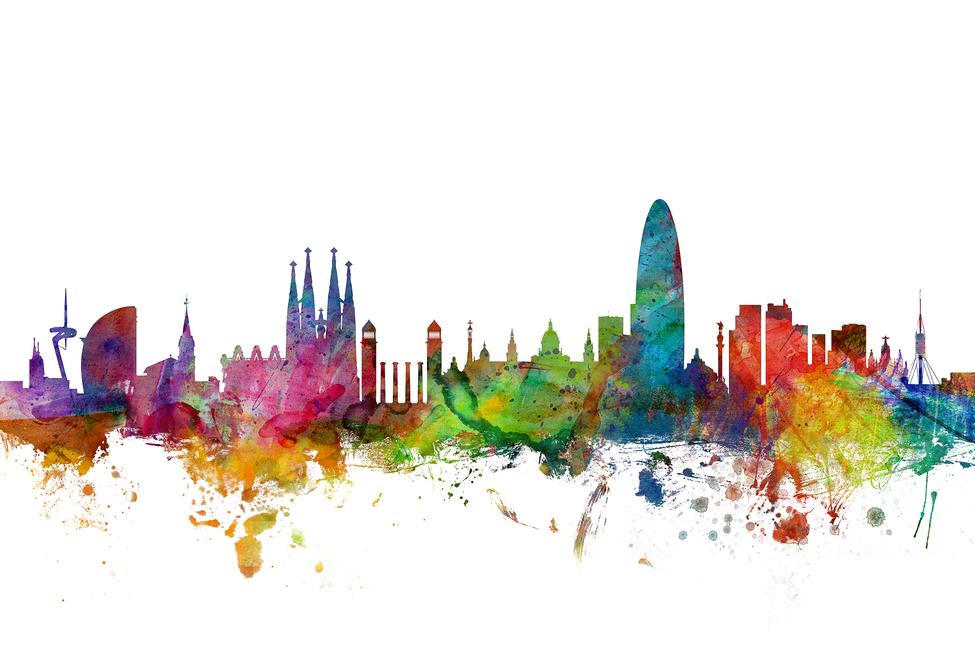 Resultat d'imatges de barcelona skyline