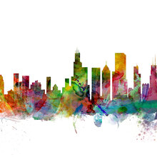 Artpause wall mural photo wallpaper photowall for Chicago skyline mural wallpaper