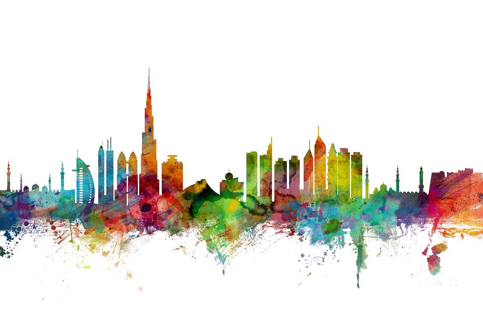 dubai skyline - canvas print  u0026 photos