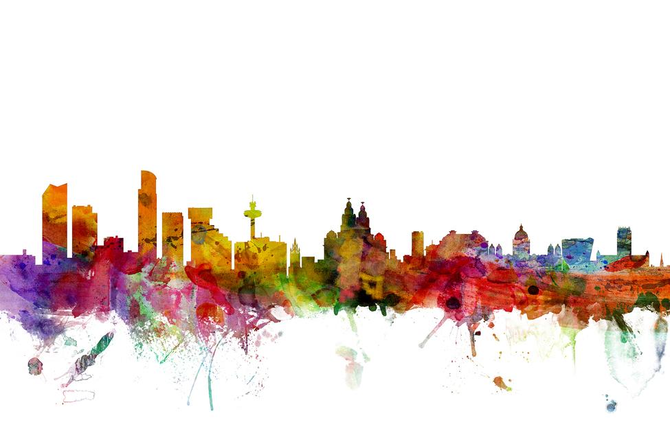 Liverpool Skyline Canvas Print Amp Canvas Art Photowall